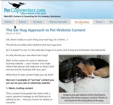 PetCopywriter.com Blog about Pet Website
