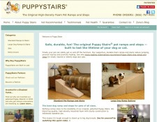 PuppyStairs.com passes the First Impression Test