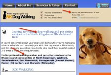Dog walker Kingston RI local pet business web content