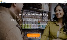 Pawsitive Perks home page shows a clear message
